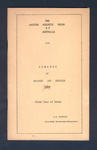 Booklet, Amateur Athletic Union of Australia Almanac of Records and Results 1957