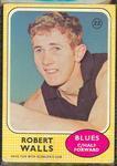 1970 Scanlens (Scanlens) Australian Football Robert Walls Trade Card