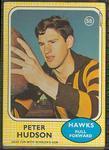 1970 Scanlens (Scanlens) Australian Football Peter Hudson Trade Card