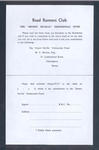 """Leaflet, """"Road Runners Club / The Ernest Neville Testimonial Fund"""" 1966"""