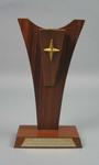 Trophy presented to Percy Cerutty by VFL Umpires, undated
