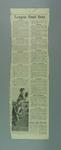 """Newspaper clipping, """"Final Training Lists for VFL"""" c1972"""