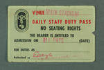 Staff pass, 1956 Olympic Games