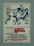 Sticker, advertisement for 1976 Olympic Games hockey equipment supplier