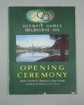 Two programmes, 1956 Melbourne Olympic Games Opening Ceremony