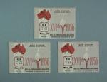 Three tickets for 1956 Olympic Games track & field events, 24 Nov