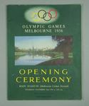 Programme for 1956 Olympic Games Opening Ceremony, 22 Nov