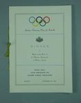 Menu for Amateur Swimming Union of Australia FINA dinner, 26 Nov 1956