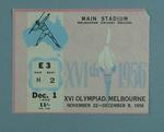 Ticket for 1956 Olympic Games - track & field events, MCG