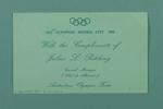 Card from Judy Patching to Irma Wigley, 1968 Olympic Games