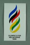 Sticker, Olympics for Melbourne 1996