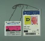 Identification pass & travel pass issued to Fin McNab, 1992 Olympic Games