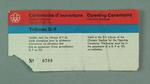 Ticket, 1976 Olympic Games Opening Ceremony