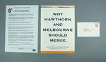 Material associated with proposed Melbourne FC - Hawthorn FC merger, 1996