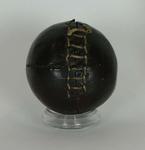 Dark brown leather cricket ball circa 1750