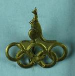Stick pin, Kangaroo and Olympic Rings design