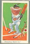 1972 Sunicrust Cricket - Comedy Cricket, Digging Them In trade card
