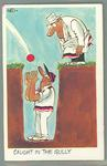 1972 Sunicrust Cricket - Comedy Cricket, Caught in the Gully trade card