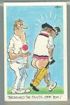 1972 Sunicrust Cricket - Comedy Cricket, Thrashed the Pants Off 'Em trade card