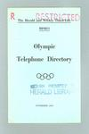 Booklet, 1956 Olympic Games Telephone Directory
