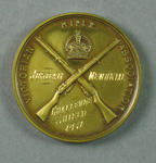 Medal - Victorian Rifle Association, Jordan Memorial Challenge Shield 1937 won by P.A. Pavey