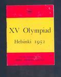 Events programme,  XV Olympiad - Helsinki 1952