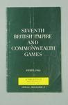 Programme for 1962 Commonwealth Games track & field events, 1 Dec