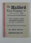 The Halford Cycle Company catalogue and price booklet, dated 25 July 1910