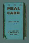 Meal card, 1956 Olympic Games issue