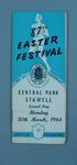 Programme, Stawell Easter Gift 1964