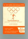 Programme for 1952 Olympic Games athletics, 20 July