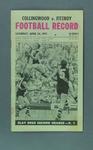 Football Record, Collingwood FC v Fitzroy FC 24 April 1971