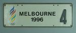 Number plate, Melbourne's Bid for 1996 Olympic Games