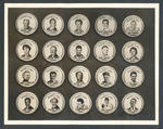 Photograph of button badges featuring Australian athletes, 1956 Olympic Games