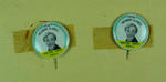 Two button badges with image of Winsome Cripps, 1956 Olympic Games