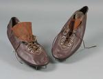 Pair of running shoes worn by Winsome Cripps, made by Hope Sweeney