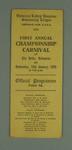 Programme, Victorian Ladies' Amateur Swimming League Carnival 16 Jan 1929