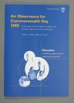 Programme, An Observance for Commonwealth Day 2005