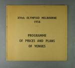 """Two booklets, """"Programme of Prices and Plans of Venues"""" - 1956 Olympic Games"""