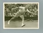 Photograph of Australian tennis player John Bromwich on court.