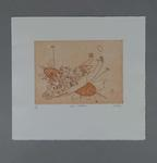 Etching - 'THE MARK', artist Bruce Petty; edition 4/40