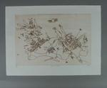 Etching - 'MIGHTY MEN', artist Bruce Petty; edition 4/40