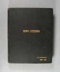 Scrapbook - 'News Cuttings -J.H. Newman 1920-1924' compiled by Jack Newman