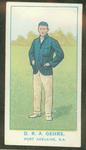 1905 Wills Capstan Australian Club Cricketers Donald Gehrs trade card
