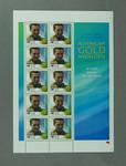 Sheet of 45c Australian stamps '2000 Australian Gold Medallists - Ian Thorpe'