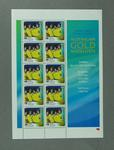 Sheet of 45c Australian stamps '2000 Australian Gold Medallists - Men's 4 x 100 Freestyle Relay'