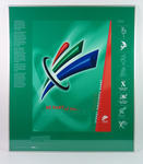 Framed poster of the design evolution for the Sydney 2000 Paralympics logo - 'Be Part of the Experience'