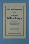 Booklet, Rules and Regulations of the Victorian Athletic League c1920s