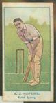1905 Wills Capstan Australian Club Cricketers Albert Hopkins trade card