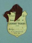 Ladies ticket, Portland Federal Cricket Club c1890s